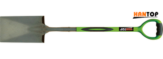 Item No.11909 Steel spade with ERGO steel tube pvc coated+TPR grip